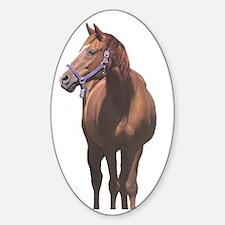 Quarter Horse Sticker (Oval)