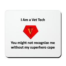vet tech superhero Mousepad