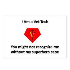 vet tech superhero Postcards (Package of 8)