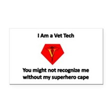 vet tech superhero Rectangle Car Magnet