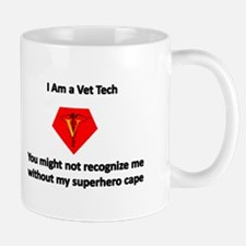 vet tech superhero Mugs