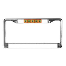 Rainbow Tiles & More #4 - License Plate Frame