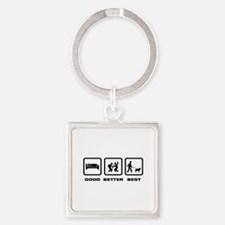Berger Picard Square Keychain