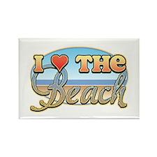 I Love the Beach Rectangle Magnet