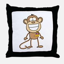 Support Our Troops Monkey Throw Pillow