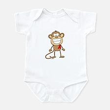 Red Ribbon Monkey Infant Bodysuit
