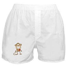 Red Ribbon Monkey Boxer Shorts