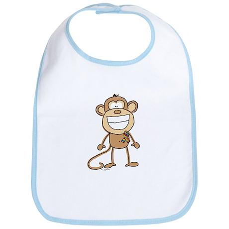 Autism Monkey Bib