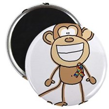 "Autism Monkey 2.25"" Magnet (10 pack)"