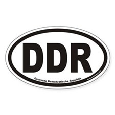 Deutsche Demokratische Republik DDR Oval Decal