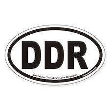 Deutsche Demokratische Republik DDR Oval Decal