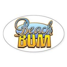 Beach Bum Oval Decal