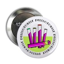 """Phlebotomist 2.25"""" Button (10 pack)"""