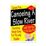 Canoe A Slow River Cover Mini Poster Print