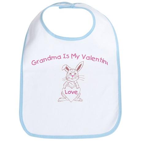 Grandma Is My Valentine Bib