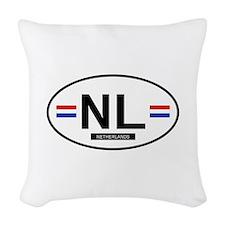 NETHERLANDS.png Woven Throw Pillow