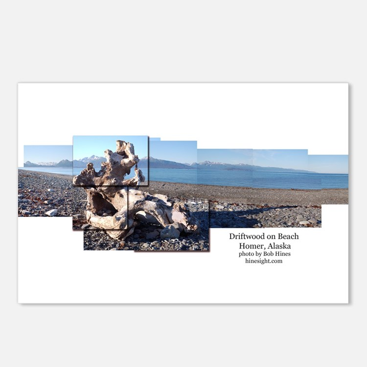 Driftwood in Homer Postcards (Package of 8)