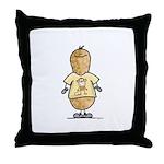 Monkey Nut Throw Pillow