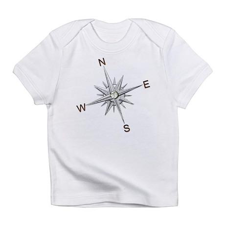silver compass points copy Infant T-Shirt