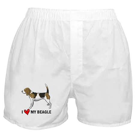 I Heart My Beagle Boxer Shorts