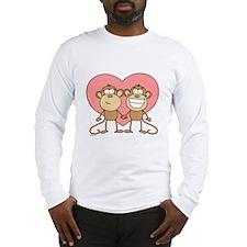 Monkey Love Couple Long Sleeve T-Shirt