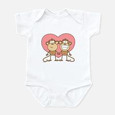 Monkey Love Couple Infant Bodysuit