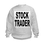 Stock Trader (Front) Kids Sweatshirt