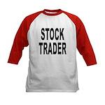Stock Trader (Front) Kids Baseball Jersey