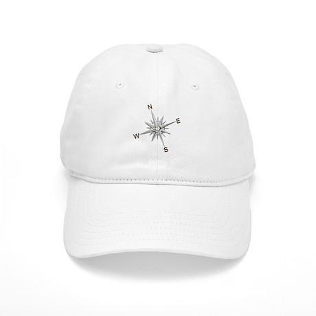 silver compass points copy Baseball Cap