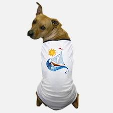 Sailboat, ocean and Sun copy Dog T-Shirt