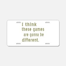 Think Games Different Aluminum License Plate