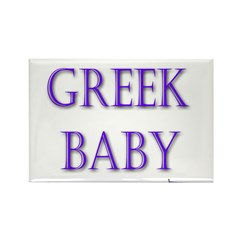 Greek Baby Rectangle Magnet (100 pack)