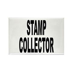 Stamp Collector Rectangle Magnet