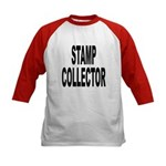 Stamp Collector (Front) Kids Baseball Jersey