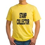 Stamp Collector Yellow T-Shirt