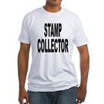 Stamp Collector (Front) Fitted T-Shirt