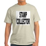 Stamp Collector (Front) Ash Grey T-Shirt