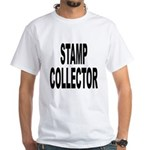 Stamp Collector (Front) White T-Shirt