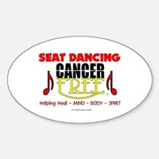 Seat Dancing Cancer Free Oval Decal
