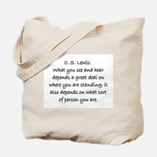C.S. LEWIS QUOTE Tote Bag