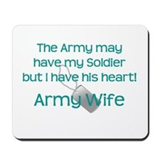 Army Wife Heart Mousepad