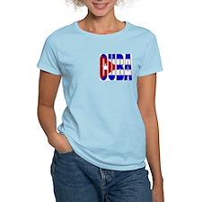 Cuba Women's Pink T-Shirt
