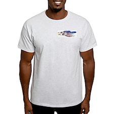US Flag: American Eagles Ash Grey T-Shirt