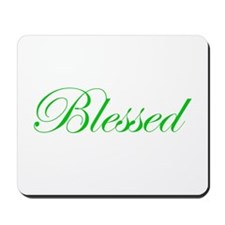 Green Blessed Mousepad