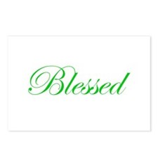 Green Blessed Postcards (Package of 8)