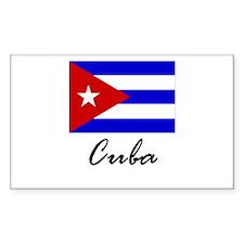 Cuba Rectangle Decal