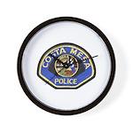 Costa Mesa Police Wall Clock