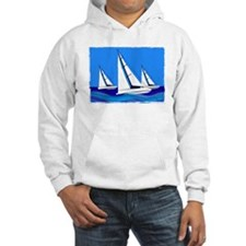 Trio of Sailboats with Edges Hoodie