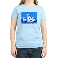 Trio of Sailboats with Edges T-Shirt