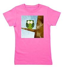 Little Green Owl Girl's Tee